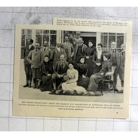 1898 Recent House Party Marquis Of Tweeddale Held At Yester Group Photograph