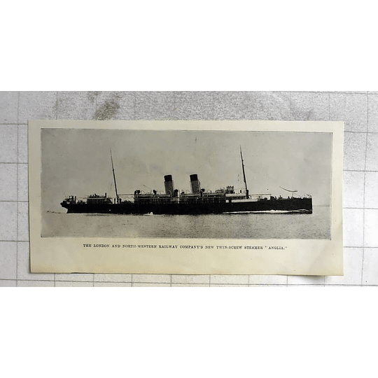 1900 L And Wr Company Twin Screw Steamer Anglia