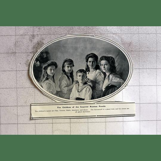 1910 Olga, Tatiana, Marie, Anastasia, Alexis Imperial Russian Children