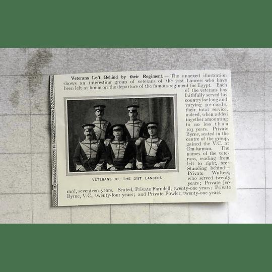 1910 Veterans 21st Lancers Left At Home Walters, Farndell, Fowler, Byrne