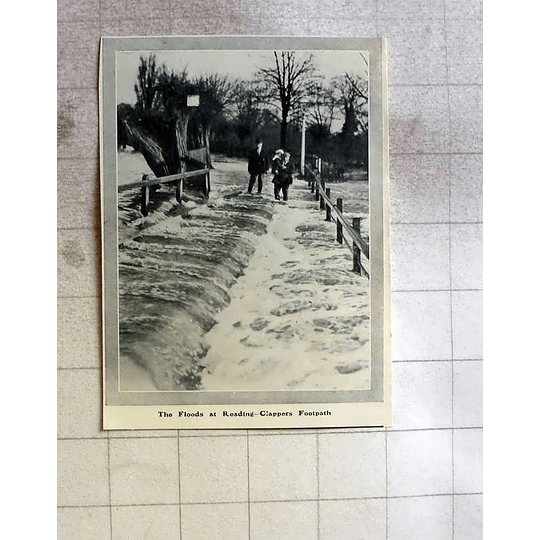 1910 The Floods At Reading To Clappers Footpath