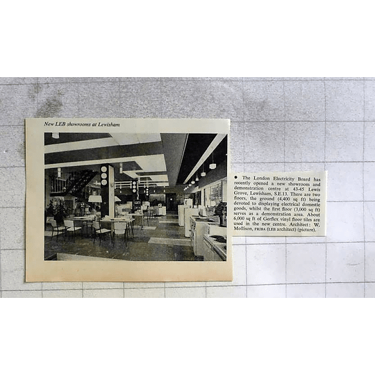 1962 New London Electricity Board Showrooms At Lewisham