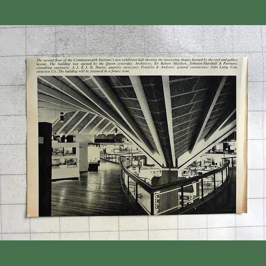 1962 Commonwealth Institute Exhibition Hall Second Floor