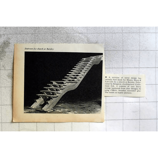 1962 Staircase For Church At Burnley