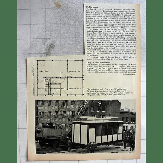 1962 London Temp Housing Mobile Home Bethnal Green Calder's Co Durham