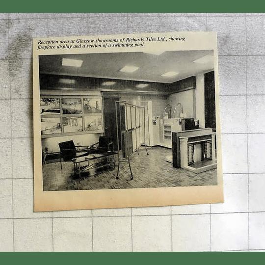 1962 Reception Area Glasgow Showrooms Richards Tiles