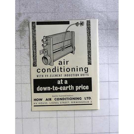1962 How Air Conditioning Limited Birmingham