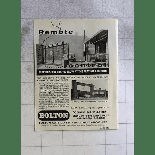 1962 Bolton Gate Company Lancs Security Innovation