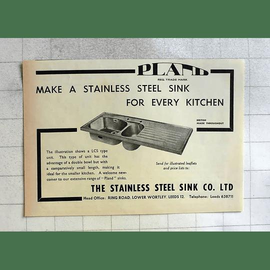 1962 Stainless Steel Sink Company Lower Wortley Leeds