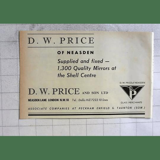 1962 Dw Price Of Neasden Quality Mirrors