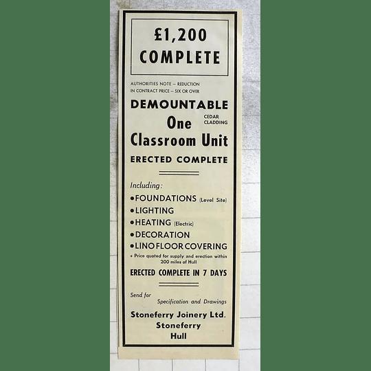 1962 Stone Ferry Joinery, Hull, Classroom Units