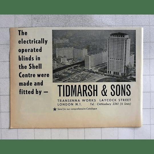 1962 Tidmarsh And Sons Transenna Works Laycock Street Canonbury