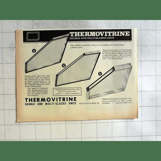 1962 Thermovitrine Multi-glazing Units North-western Lead Cheshire