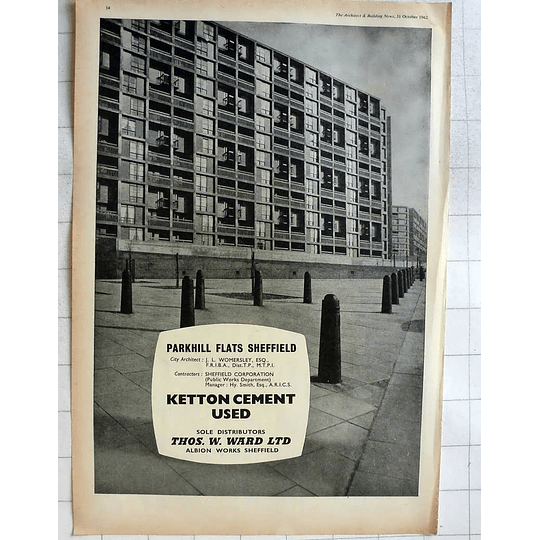 1962 Ketton Cement Used Parkhill Flats Sheffield