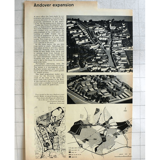1962 Andover Town Centre Expansion, Models, Plans