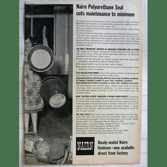 1962 Ready Sealed Nairn Linoleum