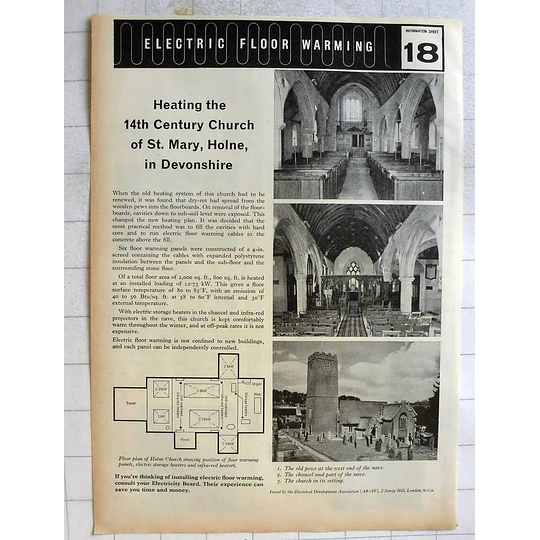 1962 Heating The 14th Century Church St Mary Holne Devonshire