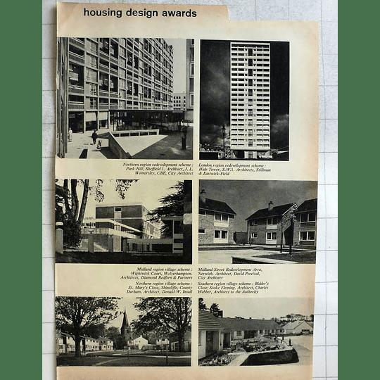 1962 Housing Awards St Mary's Close Shincliffe Bidder's Close Stoke Fleming