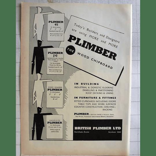 1962 British Plimber Rainham Essex Wood Chipboard