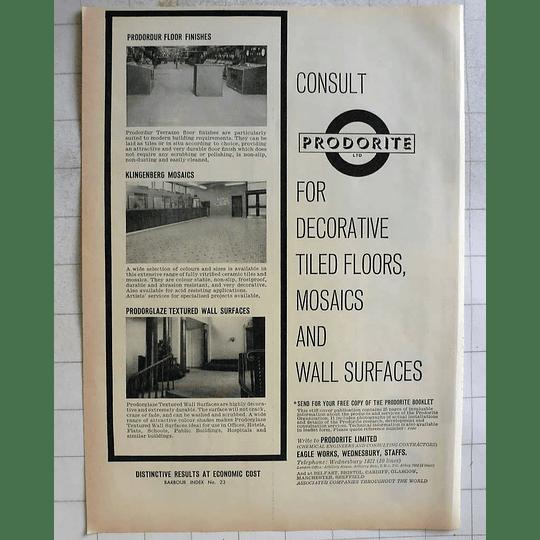 1962 Prodorite Chemical Engineers Eagle Works Wednesbury Staffordshire
