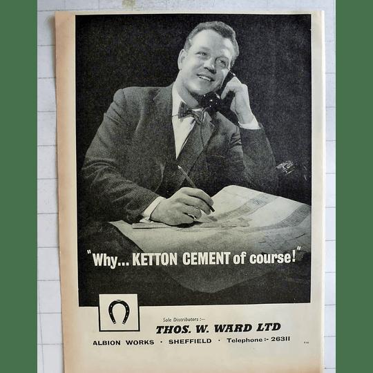 1962 Thomas Ward Albion Works Sheffield Distributors Of Ketton Cement