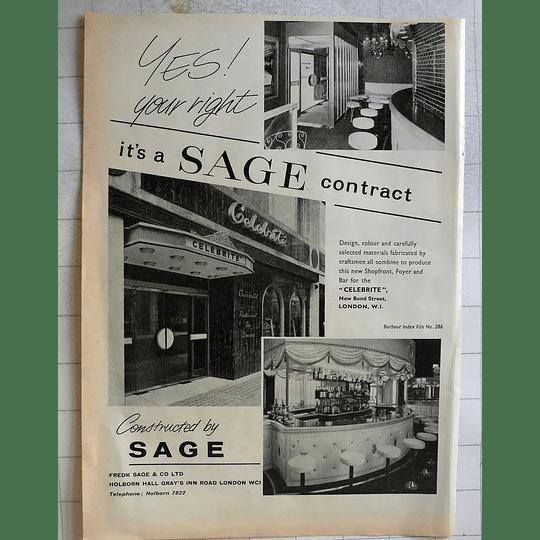 1962 Frederick Sage Holborn Hall Gray's Inn Road