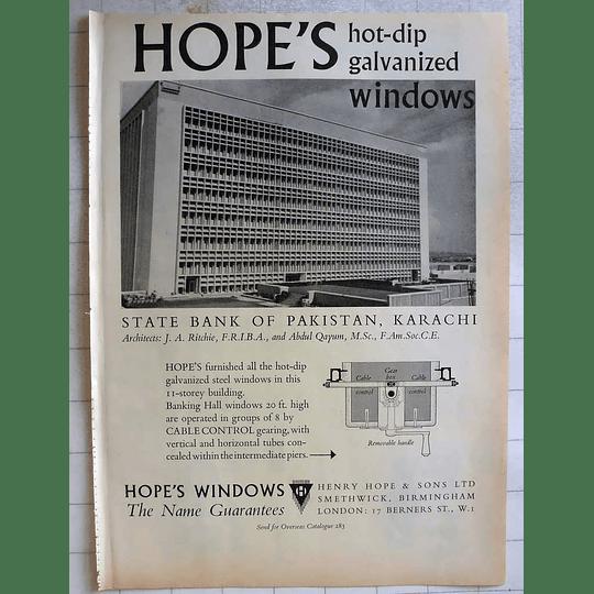 1962 Henry Hope Smethwick Birmingham Hot Dip Galvanised Windows