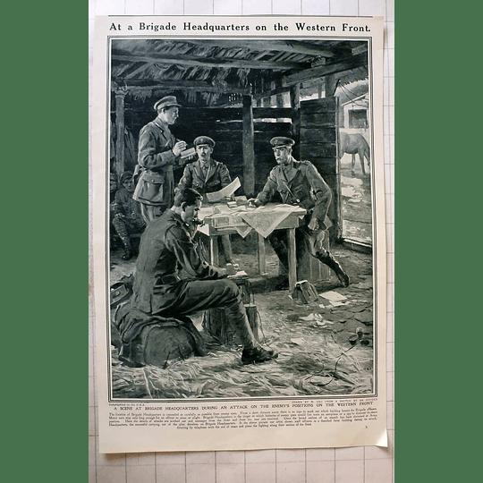 1916 Brigade Headquarters Western Front Matania Ugo