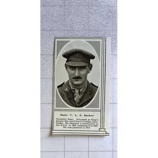 1916 Major Vls Beckett, Yorkshire Regiment