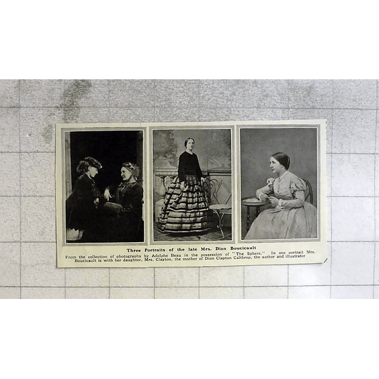 1916 Three Portraits Of The Late Mrs Dion Boucicault