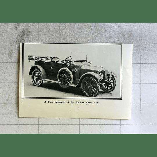 1916 Fine Specimen Of The Popular Rover Car