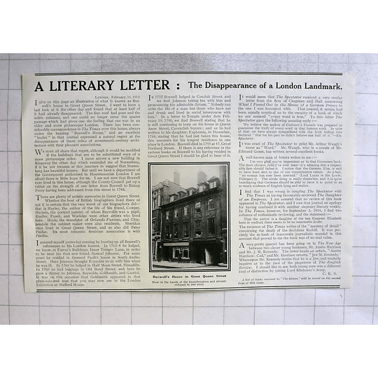 1915 Boswells House In Great Queen Street In The Hands Of Housebreakers