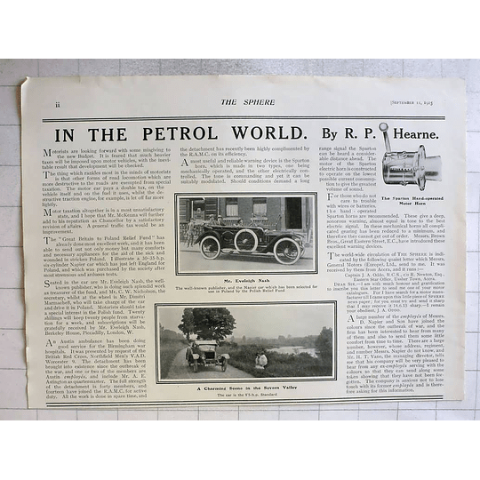 1915 Publisher Mr Eveleigh Nash Napier Car For Use By Polish Relief Fund