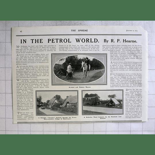 1915 Wolseley Motorcaravan Near Alcester Daimler 20 Through Harvington
