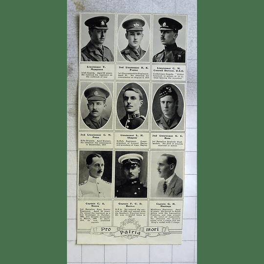 1915 Capt Cs Reeve, F.c.d Burton, Gh Hastings