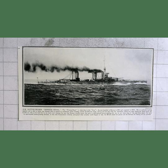 1915 Hm Battlecruiser Princess Royal, Sister Ship To The Lion