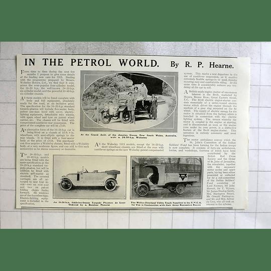 1915 Grand Arch Jenolan Caves Nsw 24 Hp Wolseley Ymca Truck