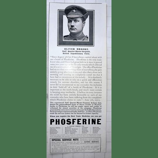 1915 Oliver Brooke, Staff Quartermaster Sgt British Expeditionary Force