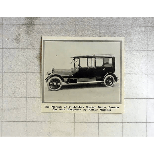 1914 Marquis Of Titchfield's 30 Hp Daimler