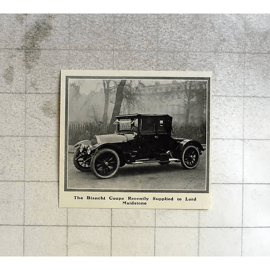 1914 Bianchi Coupe Recently Supplied To Lord Maidstone