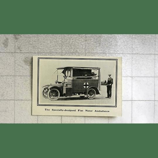 1914 Specially Designed Fiat Motor Ambulance