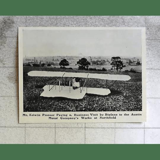 1914 Edwin Prosser Flies Into Austin Works Northfield