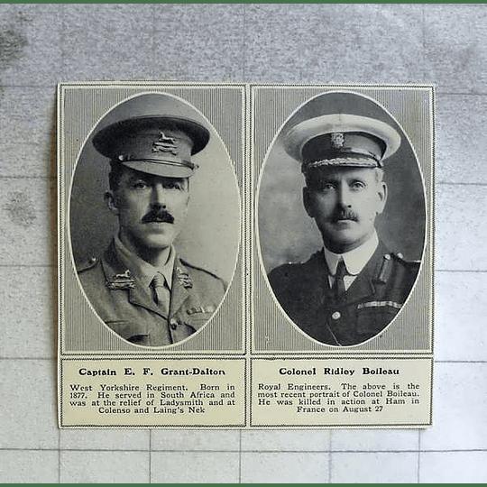1914 Capt Ef Grant- Dalton, Col Ridley Boileau