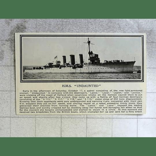 1914 Hms Undaunted In Control
