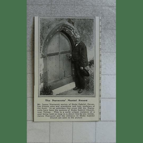 1914 Mr James Narracotts, Stoke Gabriel Devon, 16 Sons And Grandsons At Front