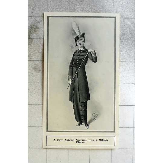 1914 New Autumn Costume With Military Flavour