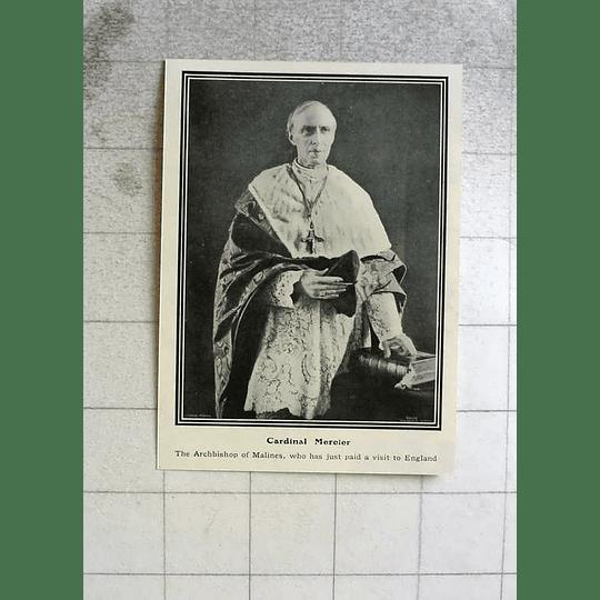 1914 Cardinal Mercier, Archbishop Of Maline's