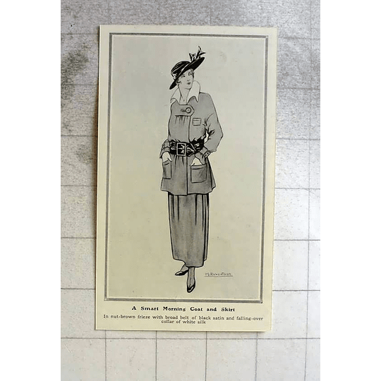 1914 A Smart Morning Coat And Skirt
