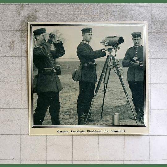 1914 German Limelight Flash Lamp For Signalling