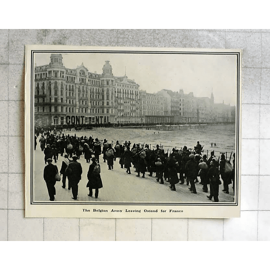 1914 Belgian Army Leaving Ostend For France